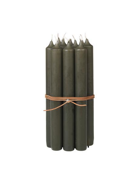 Velas candelabro Classic, 10uds., Parafina, Marrón, Ø 2 x Al 19 cm