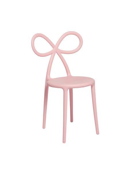 Kunststoff-Stuhl Ribbon in Rosa, Kunststoff (Polypropylen), Pink, B 53 x T 52 cm