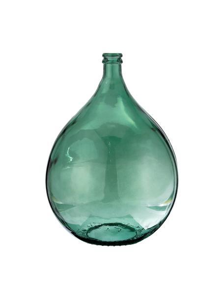 Bodenvase Drop aus recyceltem Glas, Recyceltes Glas, Grün, Ø 40 x H 56 cm