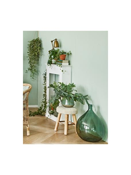 Vaso da terra in vetro riciclato Drop, Vetro riciclato, Verde, Ø 40 x Alt. 56 cm