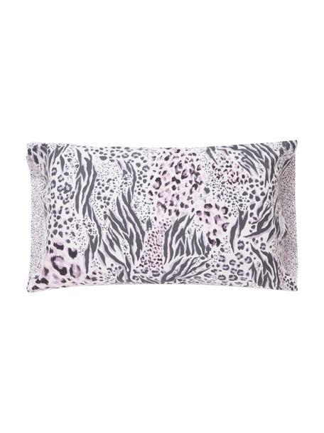 Funda de almohada Savannah, 50x110cm, 100%algodón El algodón da una sensación agradable y suave en la piel, absorbe bien la humedad y es adecuado para personas alérgicas, Tonos rosas, negro, An 50 x L 110 cm