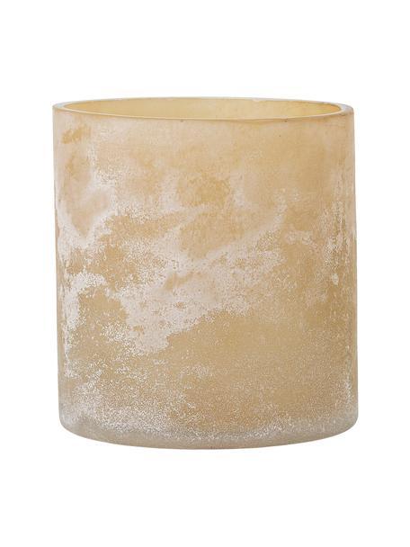 Świecznik na podgrzewacze ze szkła Naga, Szklanka, Beżowy, Ø 10 x W 12 cm