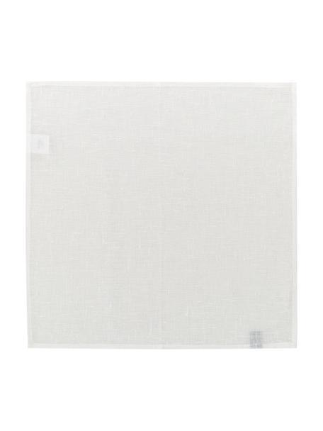 Linnen servetten Heddie in wit, 2 stuks, 100% linnen, Wit, 45 x 45 cm