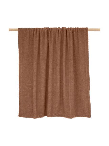 Teddy-Plaid Mille, Vorderseite: 100% Polyester (Teddyfell, Rückseite: 100% Polyester, Braun, 150 x 200 cm
