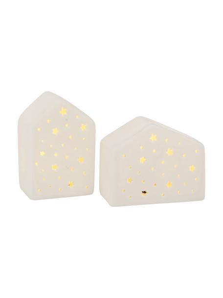 Lichthaus-Set Julika , 2-tlg., Porzellan, Weiß, Set mit verschiedenen Größen