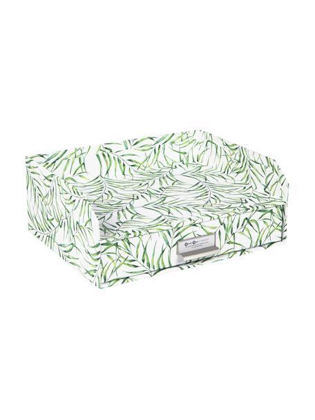 Bureau organizer Walter, Organizer: stevig gelamineerd karton, Wit, groen, 33 x 13 cm