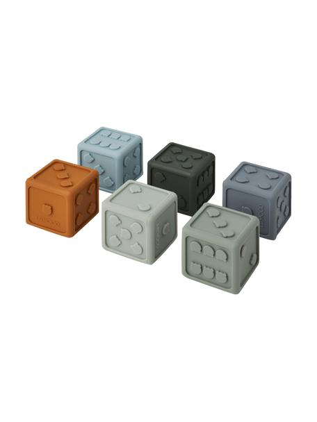 Set 6 dadi Gloria, 100% silicone, Blu, multicolore, Larg. 5 x Alt. 5 cm