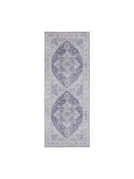 Alfombra Anthea, estilo vintage, 100%poliéster, Malva, gris plata, An 80 x L 200 cm