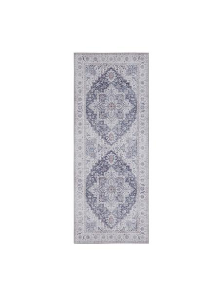 Läufer Anthea im Vintage Style, 100% Polyester, Mauve, Silbergrau, 80 x 200 cm