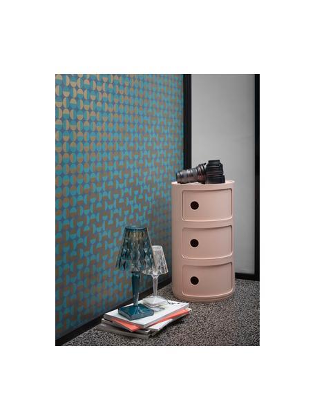 Design Container Componibili Bio 3 Modules, 100% Biopolymer aus nachwachsenden Rohstoffen, Rosa, matt, Ø 32 x H 59 cm