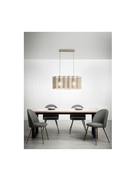 Lámpara de techo grande Glicine, Pantalla: metal recubierto, Anclaje: metal recubierto, Cable: plástico, Dorado, An 70 x Al 28 cm