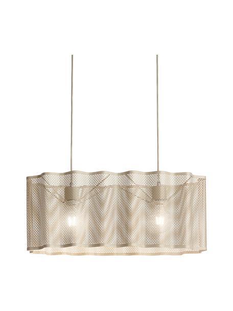 Ovale hanglamp Glicine in goudkleur, Lampenkap: gecoat metaal, Baldakijn: gecoat metaal, Goudkleurig, 70 x 28 cm