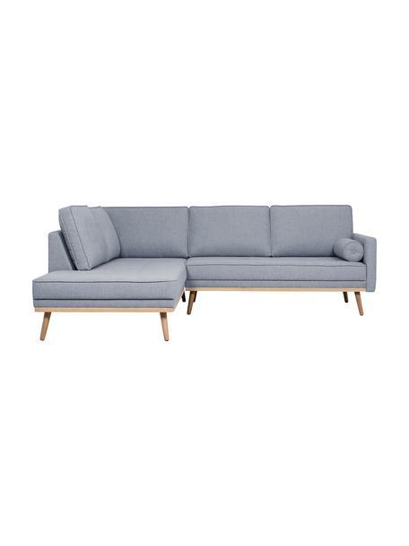 Sofá rinconero Saint (3plazas), Tapizado: poliéster Alta resistenci, Estructura: madera de pino maciza, ag, Tejido gris azulado, An 243 x F 220 cm