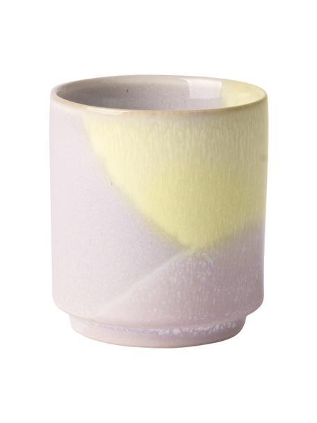 Tazza senza manico fatta a mano Gallery 2 pz, Gres, Lilla, giallo, Ø 7 x Alt. 8 cm
