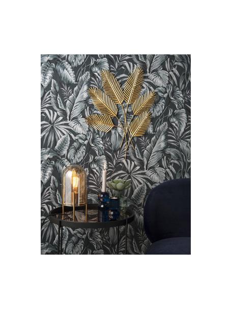 Dekoracja ścienna Beech Leaves, Metal powlekany, Odcienie mosiądzu, S 48 cm x W 62 cm