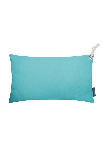 Poszewka na poduszkę zewnętrzną Capri, Polipropylen, Turkusowy, S 30 x D 50 cm