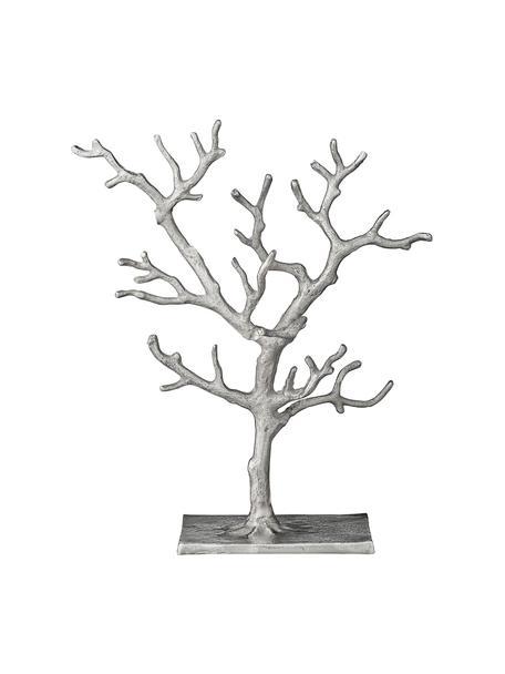 Portagioie fatto a mano Tressa, Alluminio rivestito, Argentato, Larg. 28 x Alt. 33 cm