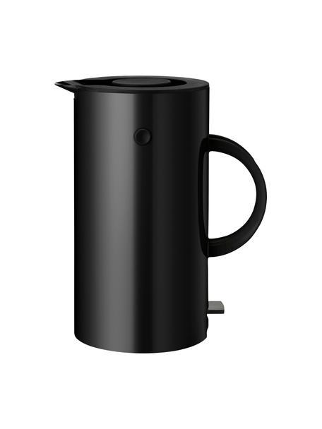 Wasserkocher EM77 in Schwarz/matt, 1.5 L, Metall, beschichtet, Schwarz, 1.5 L