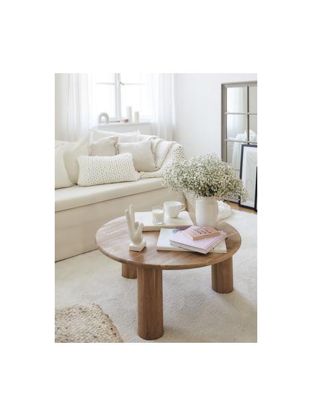 Stolik kawowy z drewna dębowego Didi, Lite drewno dębowe, olejowane, Brązowy, Ø 80 x W 35 cm