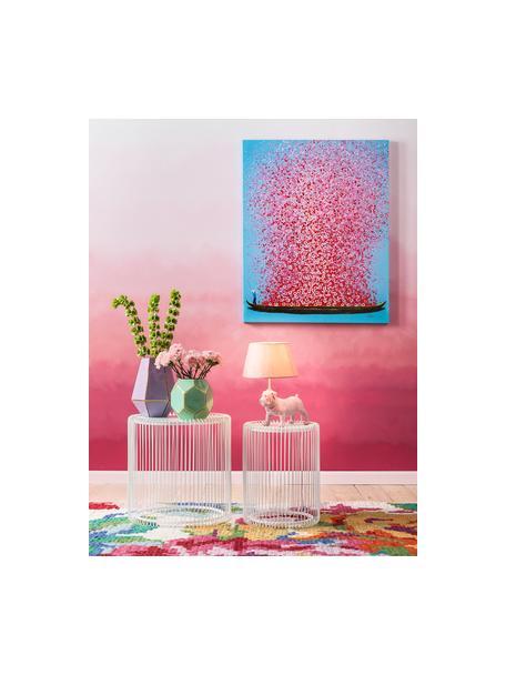 Set de mesas de centroWire, 2pzas., tablero de cristal, Estructura: acero con pintura en polv, Tablero: vidrio laminado, Blanco, Set de diferentes tamaños