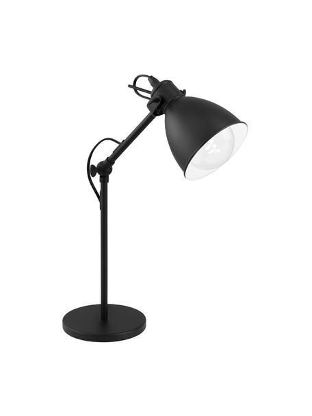 Schreibtischlampe Ethan im Industrial-Style, Lampenschirm: Metall, pulverbeschichtet, Lampenfuß: Metall, pulverbeschichtet, Schwarz, Ø 15 x H 43 cm