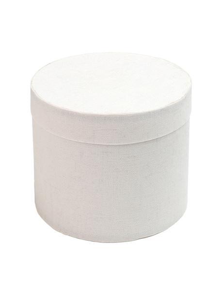 Caja para regalos Round, 6uds., Algodón, Blanco, Ø 5 cm
