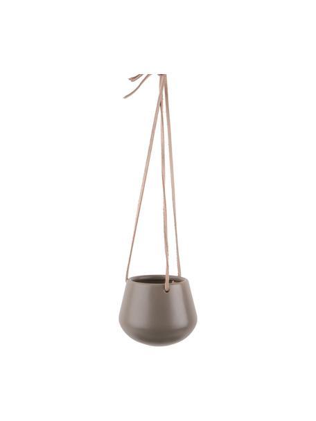 Portavaso pensile in ceramica Unique, Ceramica, Grigio, Ø 12 x Alt. 10 cm
