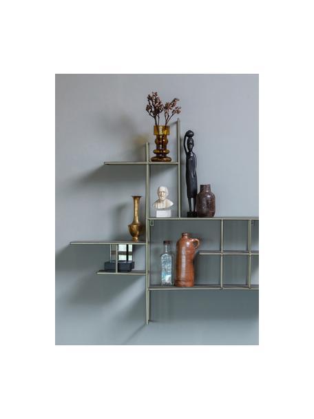 Półka ścienna z metalu Zach, Stal lakierowana, Szary, S 91 x W 87 cm