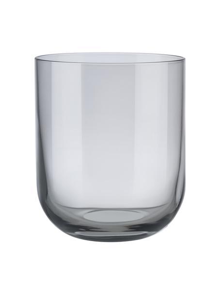 Bicchiere acqua grigio Fuum 4 pz, Vetro, Grigio trasparente, Ø 8 x Alt. 9 cm