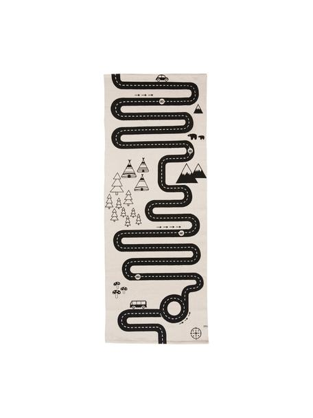 Dywan Adventure, Bawełna, Złamana biel, czarny, S 70 x D 180 cm