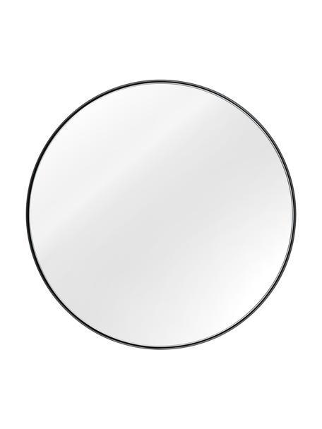 Runder Wandspiegel Ivy mit schwarzem Metallrahmen, Rahmen: Metall, pulverbeschichtet, Rückseite: Mitteldichte Holzfaserpla, Spiegelfläche: Spiegelglas, Schwarz, Ø 40 x T 3 cm