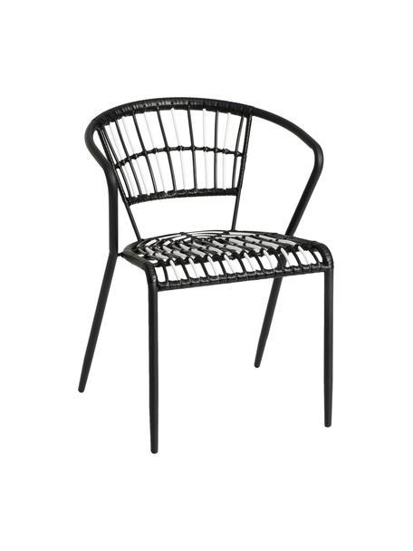 Silla para exterior Mati, Estructura: metal pintado, Negro, An 57 x F 57 cm