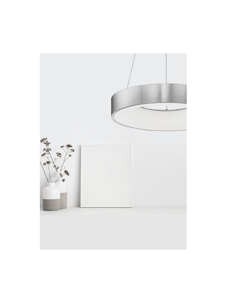 Lampada a sospensione in argento Rando, Paralume: alluminio rivestito, Baldacchino: alluminio rivestito, Argentato, Ø 38 x Alt. 6 cm