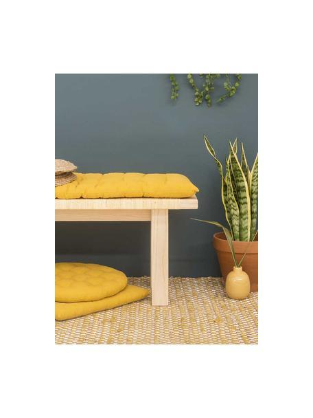 Cuscino sedia lungo Gavema, Giallo senape, Larg. 40 x Lung. 120 cm