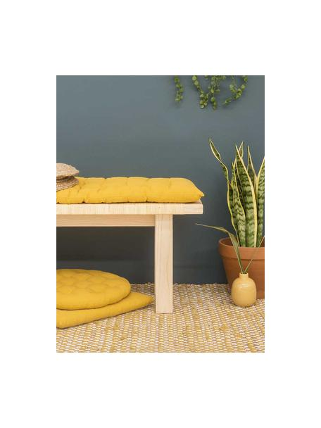 Nakładka na ławkę Gavema, Musztardowy, S 40 x D 120 cm