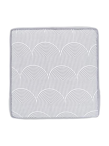 Cuscino sedia alto grigio chiaro/bianco Arc, Rivestimento: 100% cotone, Grigio, Larg. 40 x Lung. 40 cm