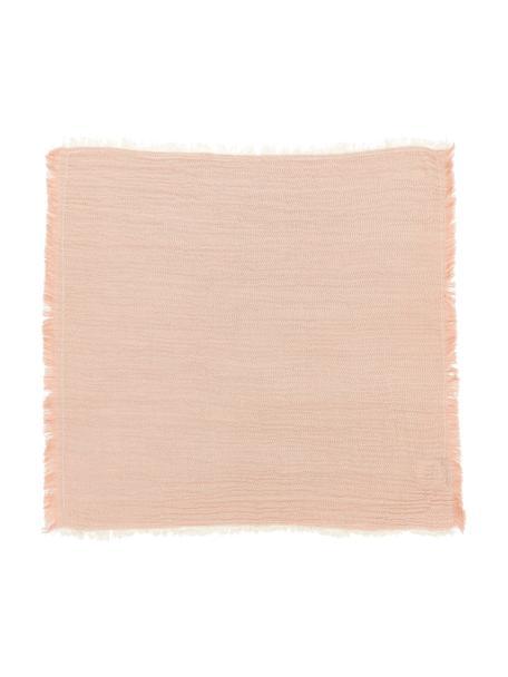 Tovagliolo di stoffa rosa Layer 4 pz, 100% cotone, Rosa, bianco crema, Larg. 45 x Lung. 45 cm