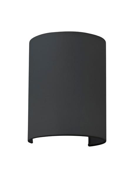Wandlamp Cotto met stoffen lampenkap, Lampenkap: katoen, Frame: metaal, Zwart, 15 x 20 cm