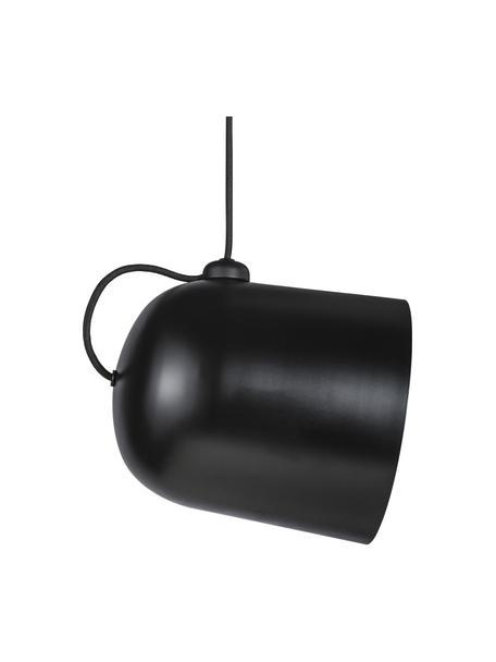 Kleine industriële hanglamp Angle, Lampenkap: gecoat metaal, Baldakijn: gecoat metaal, Zwart, Ø 21 x H 32 cm