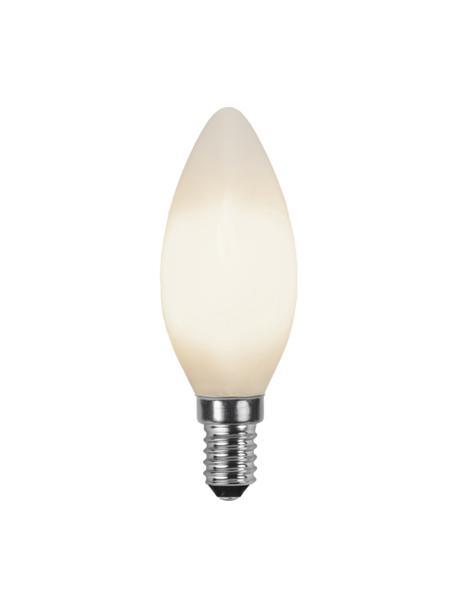 E14 Leuchtmittel, 2W, warmweiß, 1 Stück, Leuchtmittelschirm: Glas, Leuchtmittelfassung: Aluminium, Weiß, Ø 4 x H 10 cm