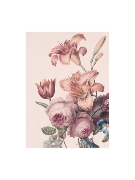 Carta da parati Labelle, Carta, Tonalità rosa, verde, blu, Larg. 200 x Lung. 280 cm