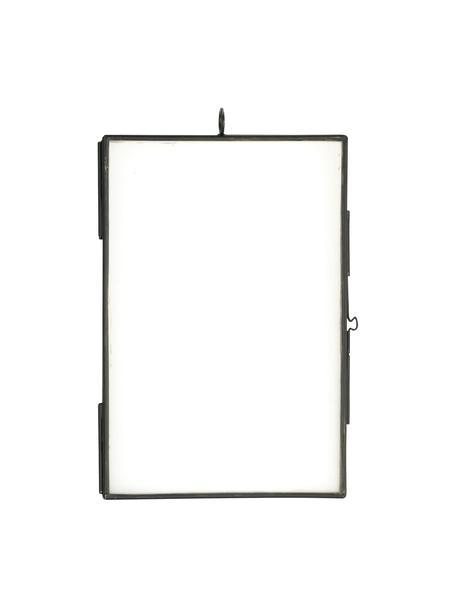 Portafoto da parete nero Key, Vetro, metallo rivestito, Nero, 10 x 15 cm