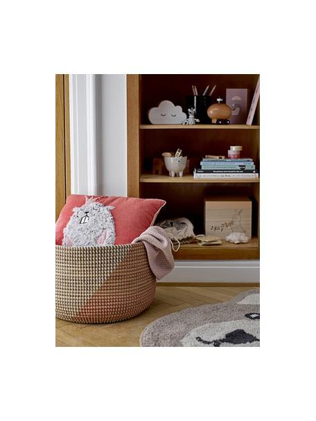 Kissen Hamster, Bezug: 70% Baumwolle, 30% Polyes, Rot, Grau, Lachsfarben, 38 x 38 cm