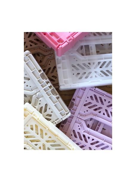 Caja plegable apilable Pink, pequeña, Plástico reciclado, Rosa, An 27 x Al 11 cm