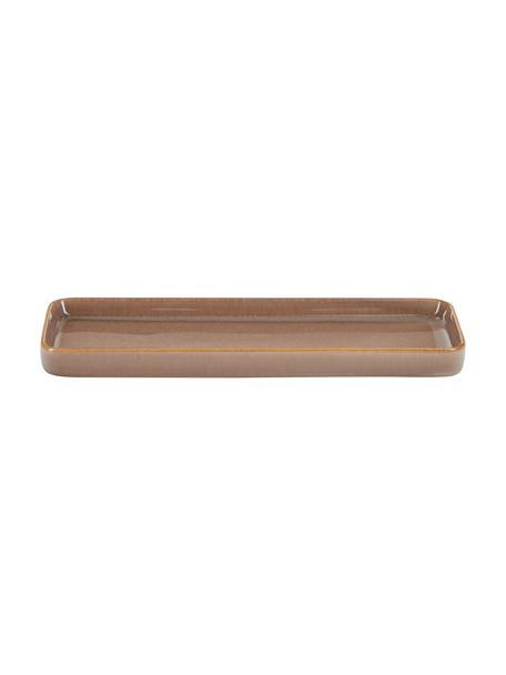 Vassoio decorativo in ceramica marrone Tin, Ceramica, Marrone, Larg. 27 x Prof. 10 cm