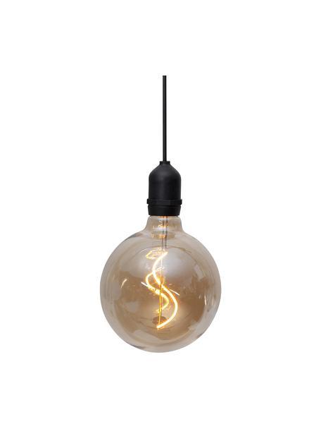 Mobiel hanglamp Bowl met tijdschakelaar, Lampenkap: glas, Fitting: kunststof, Amberkleurig, transparant, zwart, Ø 13 x H 18 cm