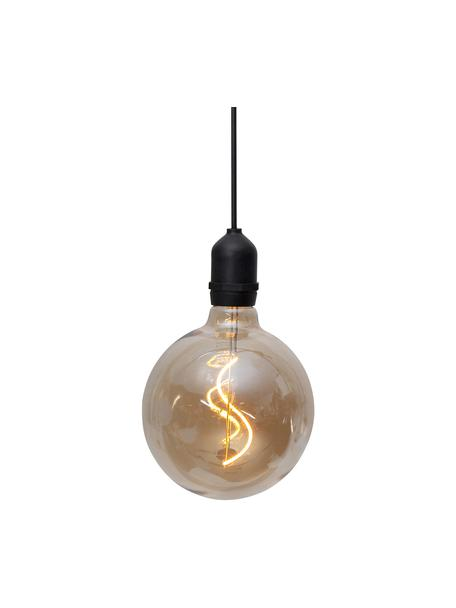 Mobilna lampa wisząca z timerem Bowl, Odcienie bursztynowego, transparentny, czarny, Ø 13 x W 18 cm