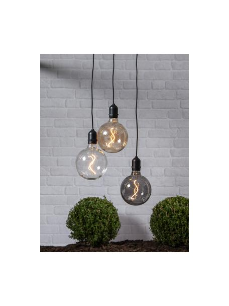 Lámpara Bowl, portátil con temporizador, Pantalla: vidrio, Cable: plástico, Ámbar, transparente, negro, Ø 13 x Al 18 cm