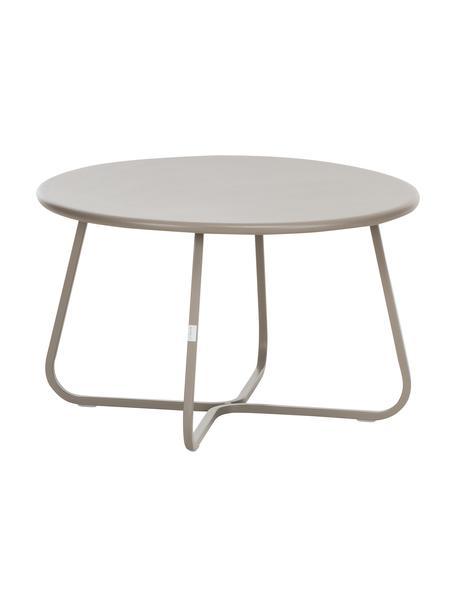 Tavolino da giardino Sunderland, Acciaio, zincato, verniciato a polvere, Taupe, Ø 65 x Alt. 40 cm