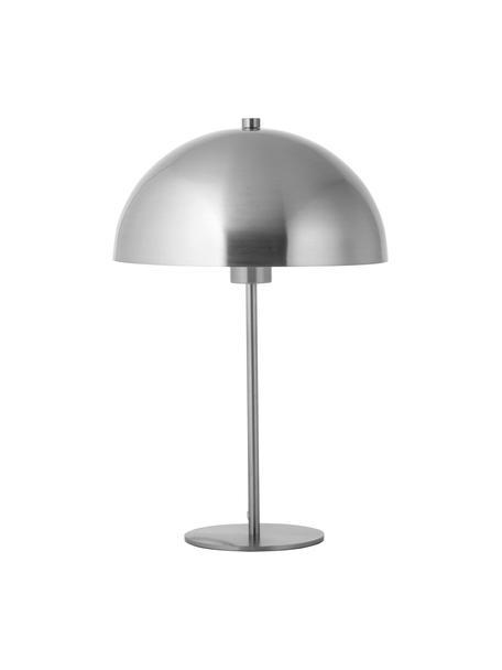Tafellamp Matilda van metaal, Lampenkap: vernikkeld metaal, Lampvoet: vernikkeld metaal, Nikkelkleurig, Ø 29 x H 45 cm